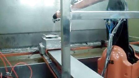 机器人喷涂 配双滑台