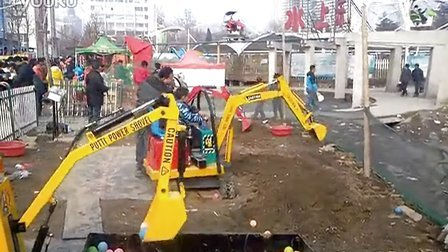济宁微装 儿童挖掘机 游乐吊车 最新游乐项目