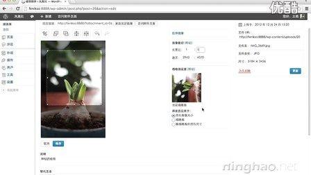 Wordpress 教程 - 04-02-编辑图像