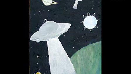 二中学生科幻画作品2