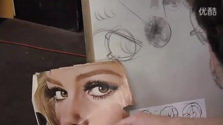 Clip from Class 8 of Glen Orbik's Head Drawing class