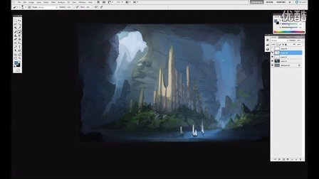 Digital Painting Time Lapse - Half Remembered Ruins