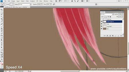 Digitally Painted Hair Tutorial