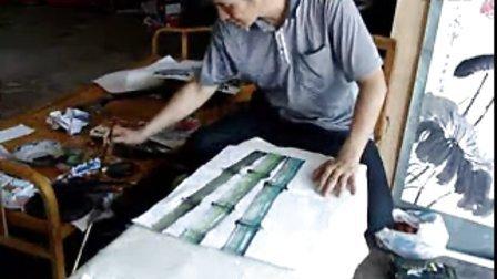 排笔竹子画法