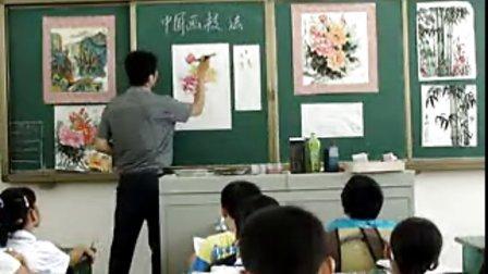 二中美术课牡丹花的画法课堂教学视频