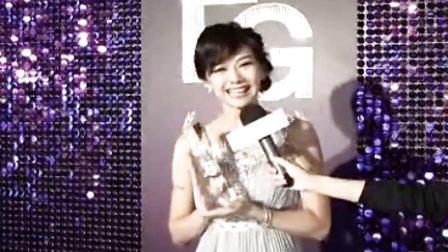 愛用者,邵庭,FG年度頒獎典禮,代表百葉玫瑰水,接受媒體採訪。