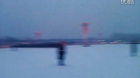 何金艺术培训,CCTV录像完后,北京游…天安门升旗2月3早晨6点
