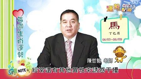 台湾中华电信MOD姓名大师陈哲毅2013年6月3日~6月9日生肖运势(马)