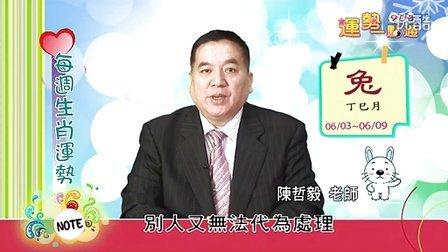 台湾中华电信MOD姓名大师陈哲毅2013年6月3日~6月9日生肖运势(兔)