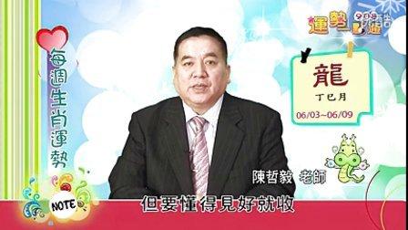 台湾中华电信MOD姓名大师陈哲毅2013年6月3日~6月9日生肖运势(龙)