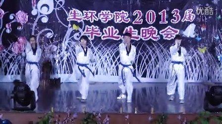 树人大学生环学院毕业生晚会的跆拳道表演(高清版)
