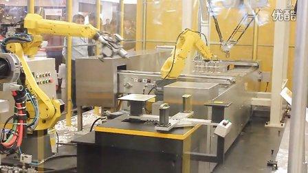 发那科 LS3机械手臂全自动在线贴标签(上海工博会)