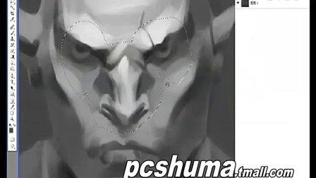 [VIKOOpen绘客数位板课程]美漫野蛮人头部设计技巧四