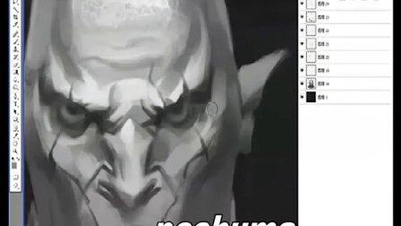 [VIKOOpen绘客数位板课程]美漫野蛮人头部设计技巧六