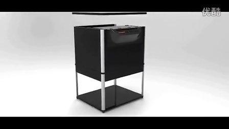 盆景柜式碎纸机3D动画,柜式碎纸机创造者