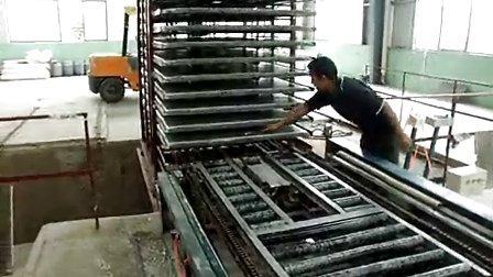 外墙保温墙板生产线调试视频