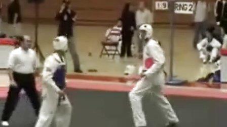 跆拳道比赛搞笑场面