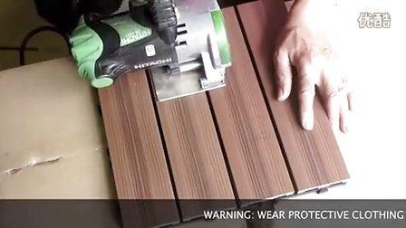 半小时改装阳台!塑木简易地板:美新超越方块地板