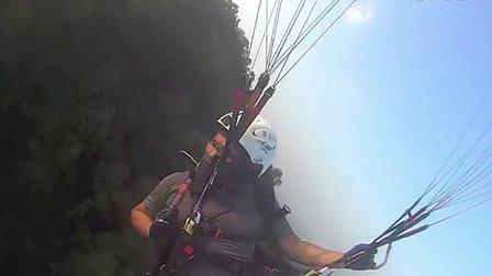 滑翔珠海-sony as15 运动摄像机(凤凰山)完美飞行-空降-中山大学-珠海