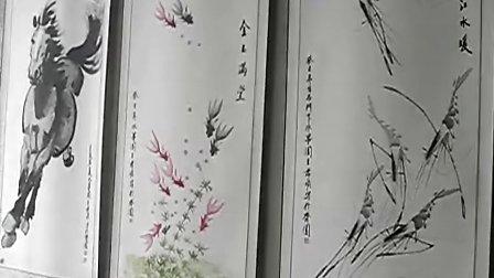 著名画家王广然老师和徒弟张孝顺中国临淄国际齐文化节画展