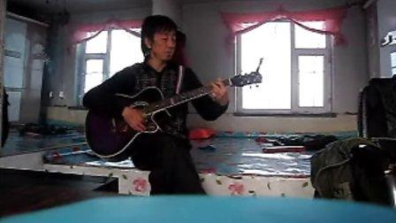 MVI_3789集安老九吉他弹唱韩语歌曲一束玫瑰