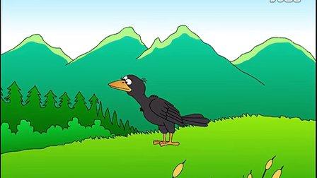 flash儿童动画故事《乌鸦喝水》