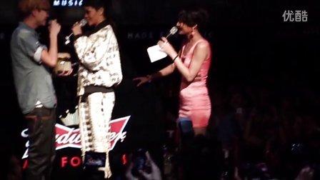 流行巨星蕾哈娜夜蒲香港兰桂坊
