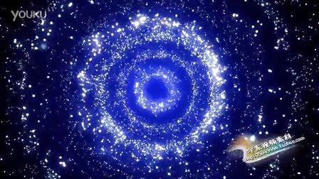 LED大屏幕动态视频素材 晚会舞台演出背景 蓝色星空 闪烁