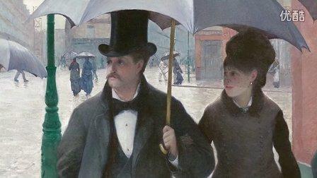 【免费听芝加哥艺术馆名画讲解】镇馆名画《巴黎街道;雨天》