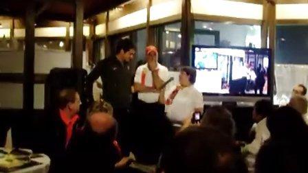 2010巴塞尔 费德勒首场比赛赛前和瑞士粉丝团聚餐会 (3-英文有关高尔夫球和衣服)