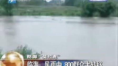 """防御""""莫拉克""""临海:风雨中 800群众大转移"""