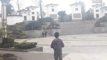 我和儿子在字库山景区玩2013年