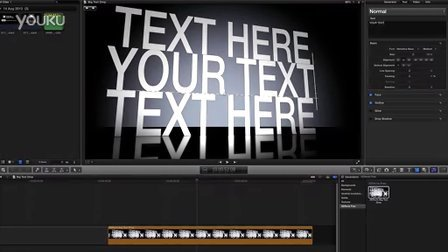 fcpx插件模版-Big Text drop Final Cut Pro X