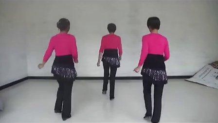 西板台 彩蝶广场舞《最炫民族风》三人示范教学
