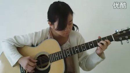 日本女生翻弹押尾Wind Song (风之诗)