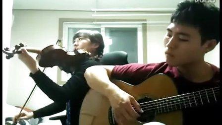 押尾黄昏,韩国琴友小提琴吉他合奏