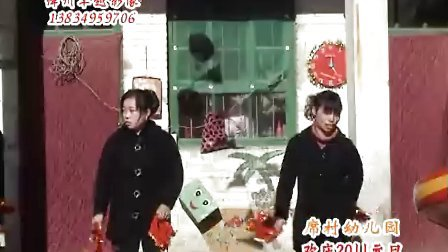 绛州网络电视台新绛县席村幼儿园欢庆2011元旦:黄河九十九道弯