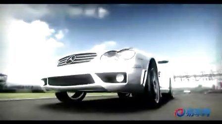 奔驰SL跑车 赛道梦幻视频