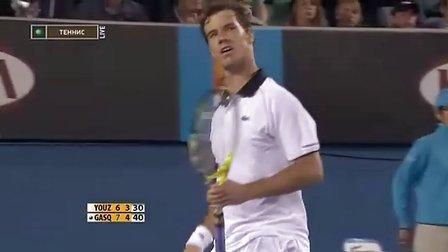 ATP2010 澳网 第一轮 柚子VS加斯奎特 集锦