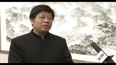 CCTV采访山东画院院长孔维克