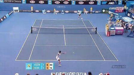 [HD]WTA2011 澳网 第四轮 库兹涅佐娃VS斯齐亚沃尼 第3盘