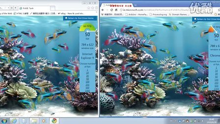 IE9 beta VS chrome7  html5测试