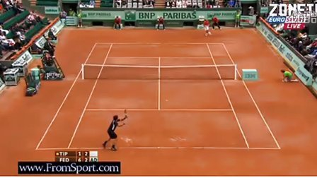 2011法网R3费德勒vs Tipsorevic第二盘6-4 RF