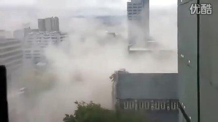 新西兰民众高楼中手机真实记录地震瞬间