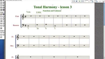 欧美和声第三课Harmony - lesson 3 - Functions and Cadences