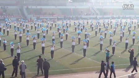 莱钢第五届老年运动会开幕式健身球表演