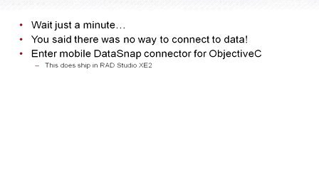 使用FireMonkey和InterBase的iOS DataSnap