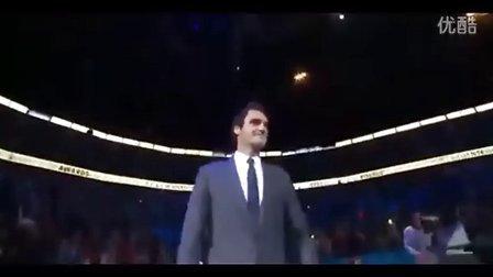 费德勒在2013伦敦大师杯领取3个ATP奖项之后的访问