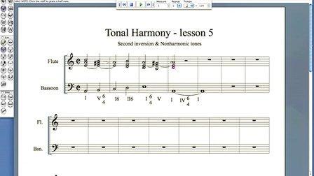 Harmony - lesson 5 - 2nd inversion nonharmonic tones
