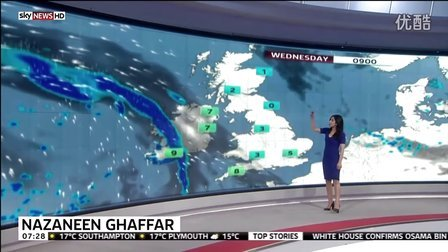 Sky News Morning Weather Girl - Nazaneen Ghaffar